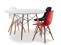 Eames-Replica-White-Table-with-3-Col-Chairs