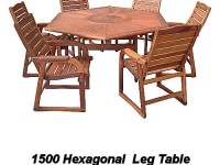 1500 Hexagonal table with 6 chairs