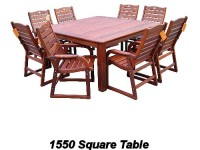 9 pc Square dining suite