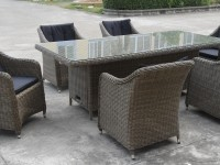 Dubai 7pc rectangular outdoor