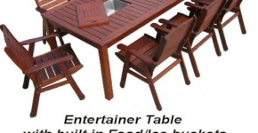 Entertainer table with ice buckets